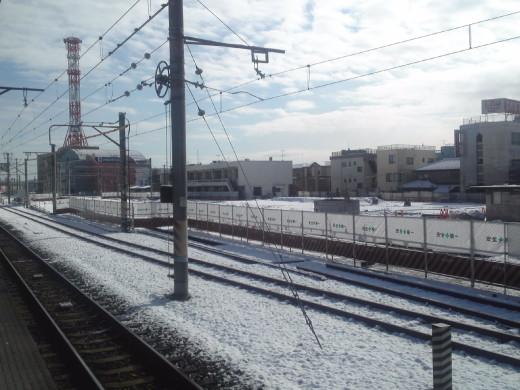 雪の八王子駅 #hachioji